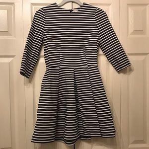GAP Black & White Striped Mini Dress